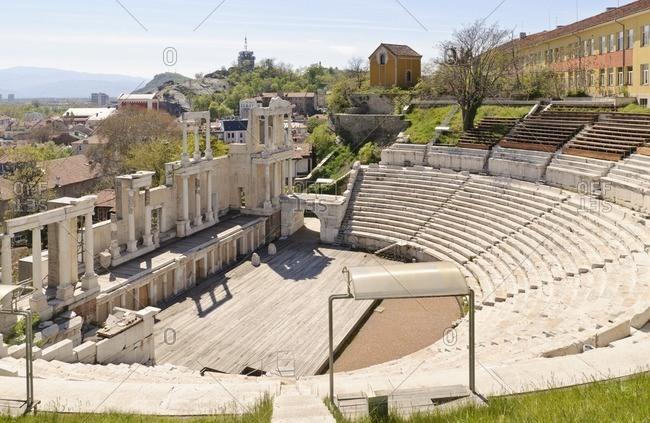 Roman amphitheater, Plovdiv, Bulgaria, Balkans, Southeast Europe