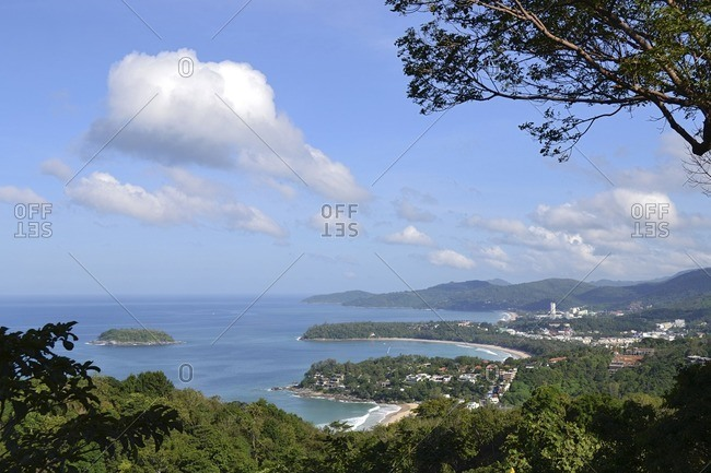 View of Kata Beach, Phuket Island, South Thailand, South East Asia