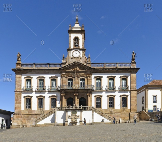 August 17, 2010: Ouro Preto town hall, Minas Gerais, Brazil, South America