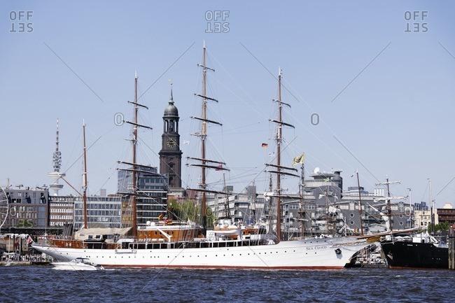 May 8, 2011: Luxury yacht 'SEA CLOUD II' in the harbor, Hamburg, Germany