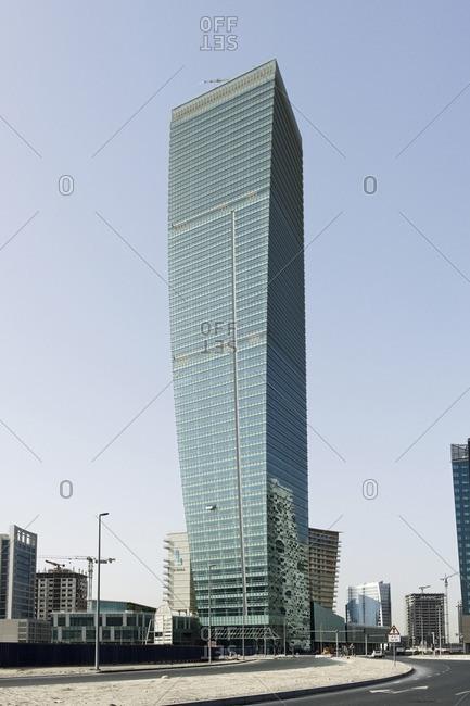 February 16, 2012: Ubora Tower, modern architecture, Dubai Business Bay, Dubai, United Arab Emirates, Asia