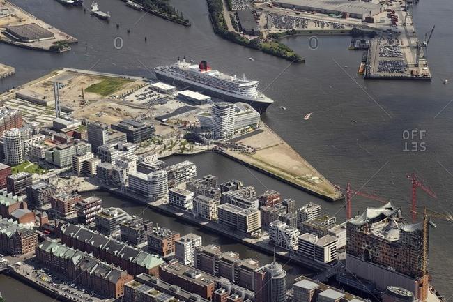 January 11, 2013: Hafencity and harbor, Hamburg, Germany