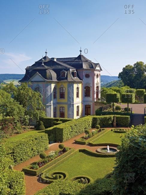 Rococo castle of the Dornburg castles, Dornburg, Thuringia, Germany