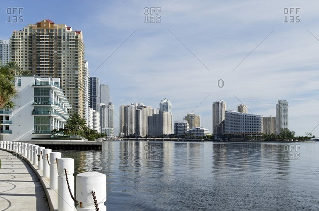Skyscrapers on Biscayne Bay, Brickell Financial District, Miami, Florida, USA