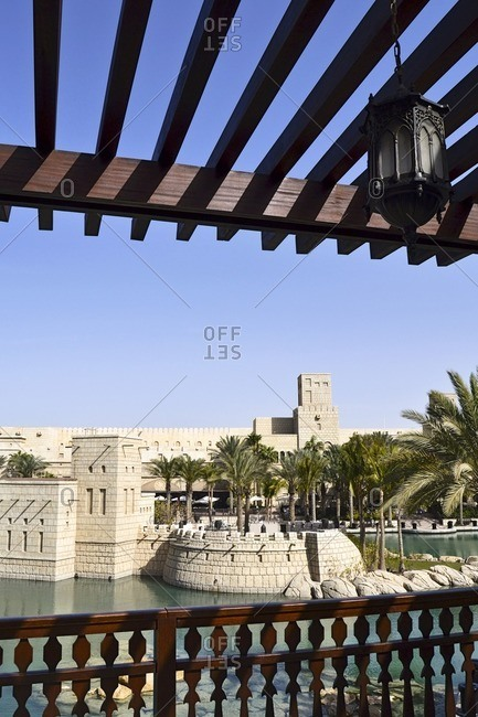 historically, Souk Madinat, Jumeirah, Emirate of Dubai, United Arab Emirates, Arabian Peninsula, Middle East