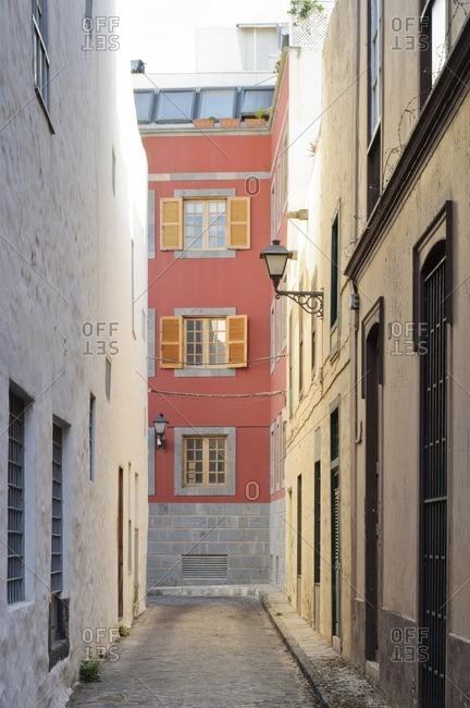 Alley, Las Palmas de Gran Canaria, Gran Canaria, Canary Islands, Spain