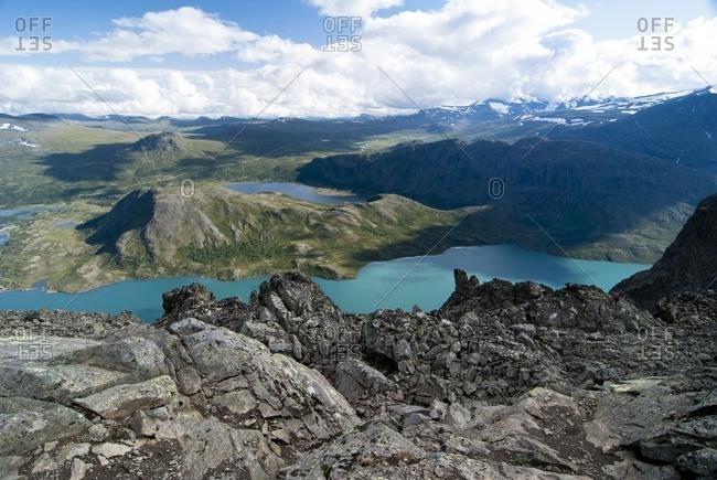 Mountain lake in Jotunheimen National Park, Norway