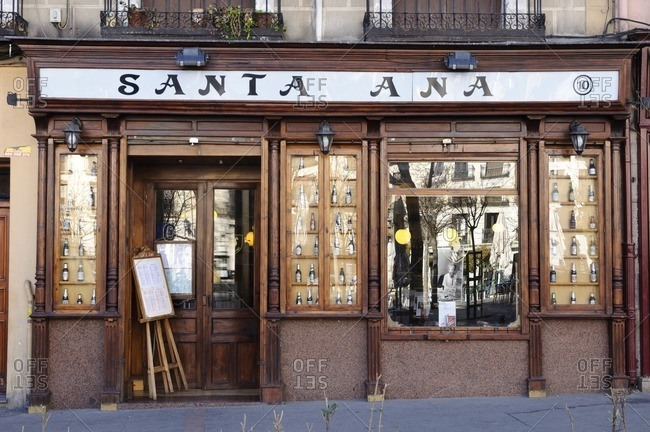 February 22, 2012: Santa Ana restaurant, Santa Ana district, Madrid, Spain