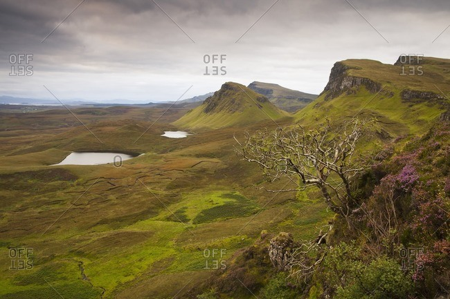 Quiraing View between Duntulm and Flodigarry, Isle of Skye, Scotland, Great Britain