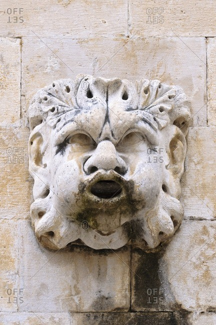 Stone sculpture in the old town of Dubrovnik, Adriatic Sea, Croatia, Southeast Europe