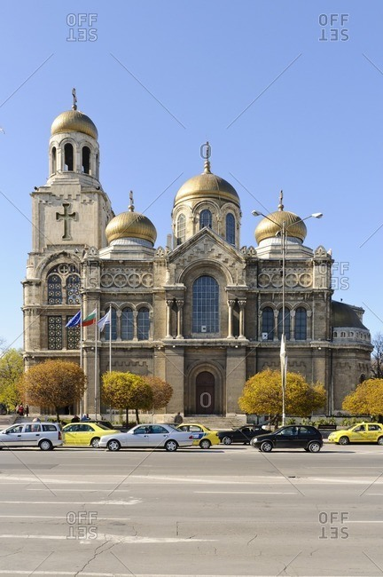 April 25, 2011: Our Lady Cathedral, Varna, Black Sea, Bulgaria, Balkans, Southeast Europe