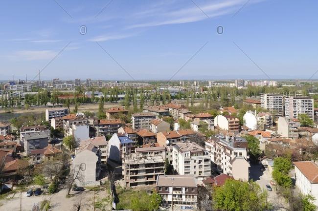 View over Plovdiv, Plovdiv, Bulgaria, Balkans, Southeast Europe