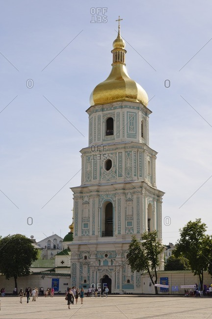 May 29, 2011: Bell tower of St. Sophia Cathedral, Kiev, Ukraine, Eastern Europe