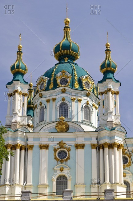 St. Andrew's Church, Kiev, Ukraine, Eastern Europe