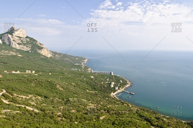Shoreline, Crimean Mountains, Yalta, Crimea, Ukraine, Eastern Europe