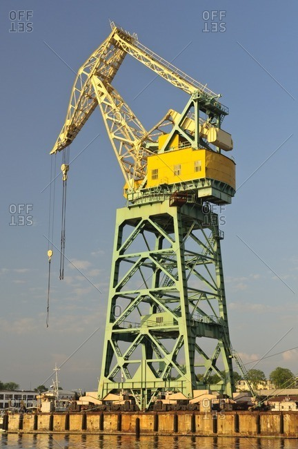 Crane in the harbor, Sevastopol, Crimea, Ukraine, Eastern Europe