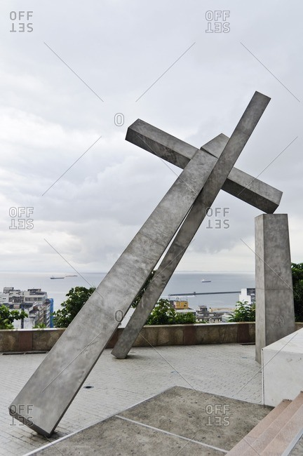 August 6, 2010: Monument, Pelourinho, Salvador da Bahia, Bahia, Brazil, South America