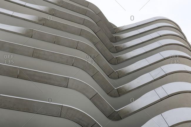 May 1, 2012: Facade, Marco Polo Tower, Hafencity, Hamburg, Germany