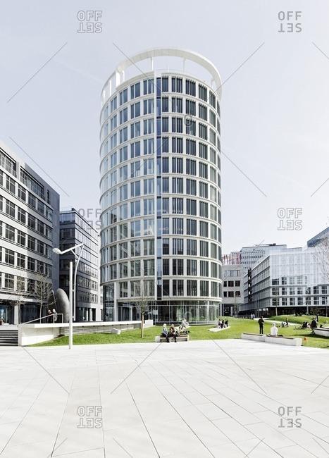 April 10, 2011: International Coffee Plaza Tower, Sandtorpark, Hafencity, Hamburg, Germany