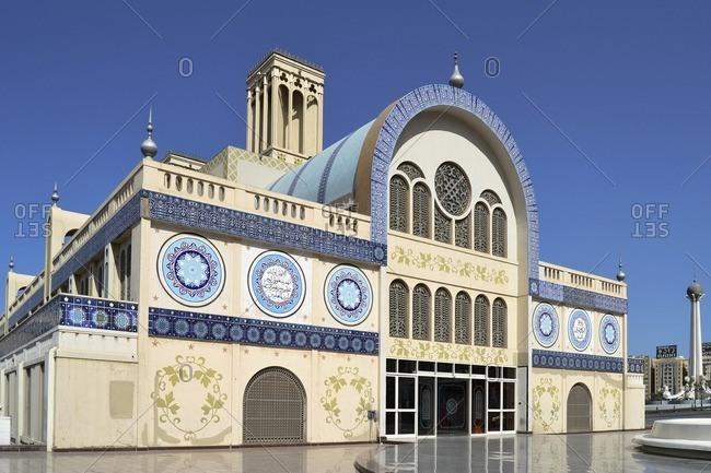 February 12, 2012: Old Souk, Shopping Center, Emirate of Sharjah, United Arab Emirates, Arabian Peninsula, Middle East