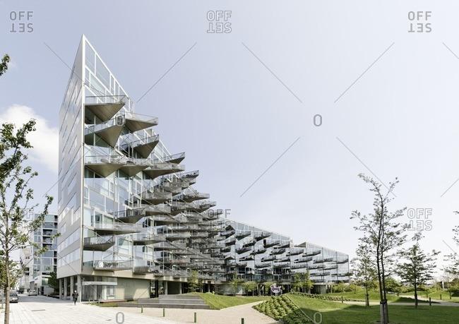 May 18, 2012: Modern architecture, housing, orestad, Amager Island, Copenhagen, Denmark