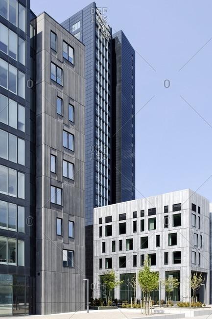 Modern architecture, housing, Orestad, Amager Island, Copenhagen, Denmark