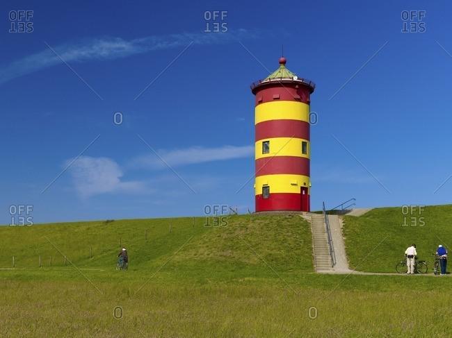 Pilsumer lighthouse, municipality of Krummhorn, East Frisia, Lower Saxony, Germany