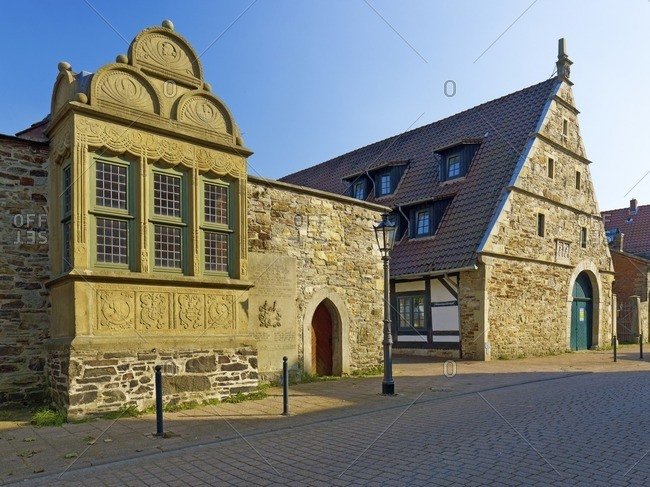 Archive house in Rinteln, Weserbergland, Lower Saxony, Germany