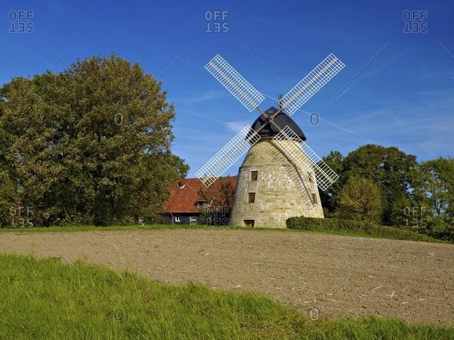 Rodenberger windmill on the Alten Rodenberg, Rodenberg, Landkreis Schaumburg, Lower Saxony, Germany