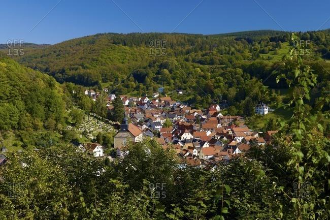 Steinbach bei Bad Liebenstein, Wartburgkreis, Thuringian Forest, Thuringia, Germany