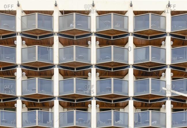 November 19, 2010: House facade, Paseo de la Canteras, Las Palmas de Gran Canaria, Gran Canaria, Canary Islands, Spain