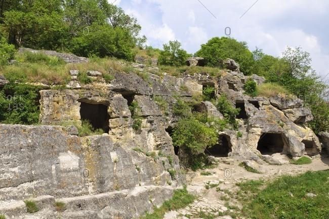 Chufut-Kale, medieval fortress town, Bachchyssaraj, Crimea, Ukraine, Eastern Europe