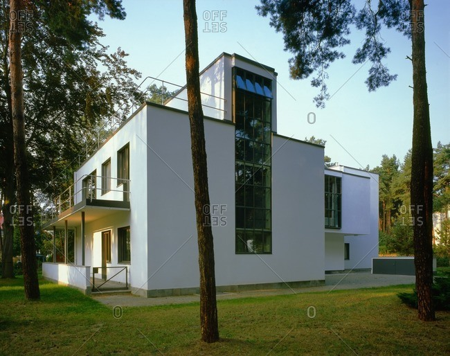 June 12, 2002: Master Houses Kandinsky and Klee in Dessau, Saxony-Anhalt, Germany
