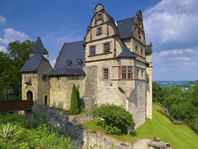 Upper castle Kranichfeld near Weimar, Thuringia, Germany