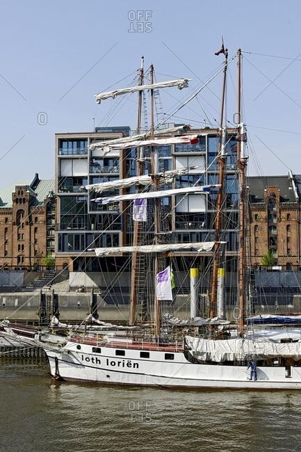 January 11, 2013: Sailing ships in the traditional ship harbor, harbor birthday, Hamburg, Germany