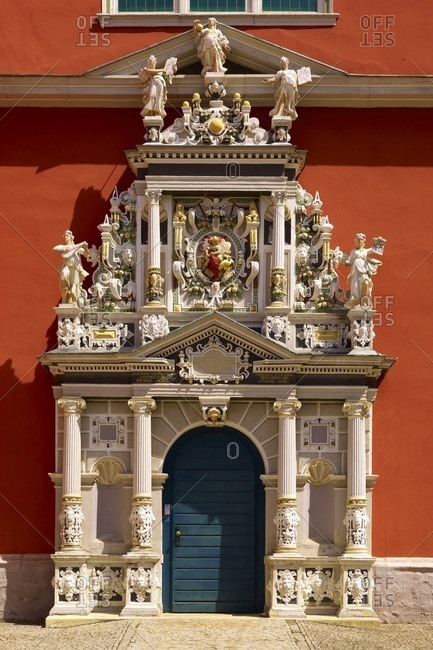 January 11, 2013: Portal of the Juleum in Helmstedt, Lower Saxony, Germany