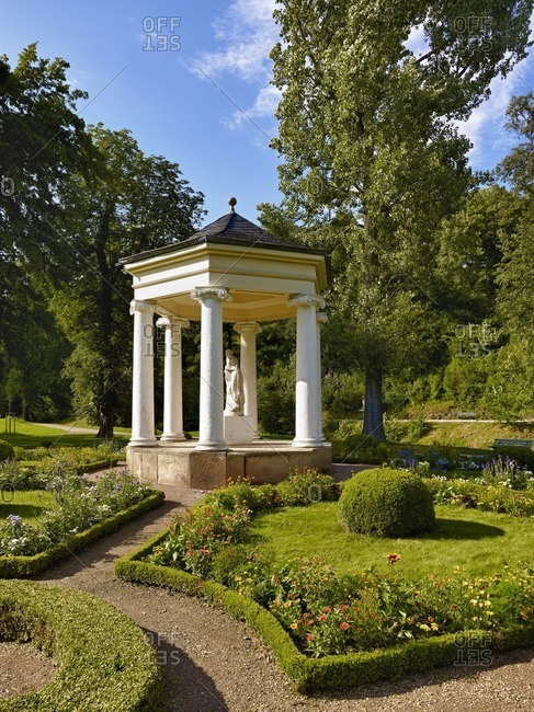 Temple of the Muses of the Calliope in Tiefurter Park near Weimar, Thuringia, Germany