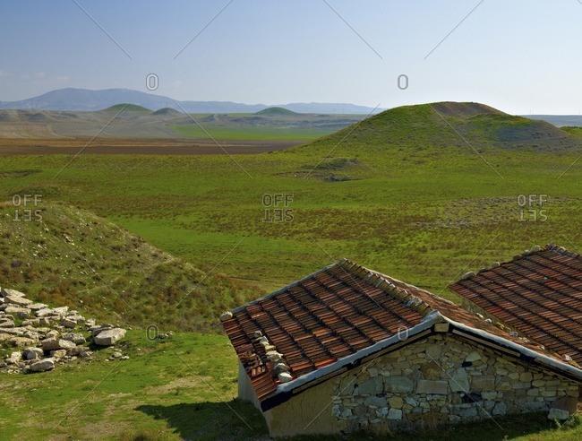 Landscape at Gordion, Polatli, Ankara Province, Central Anatolia, Turkey