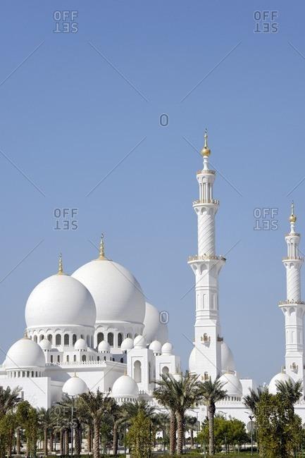 Sheikh Zayed Bin Sultan Al Nahyan Mosque, third largest mosque in the world, Al Maqtaa, Emirate of Abu Dhabi, United Arab Emirates