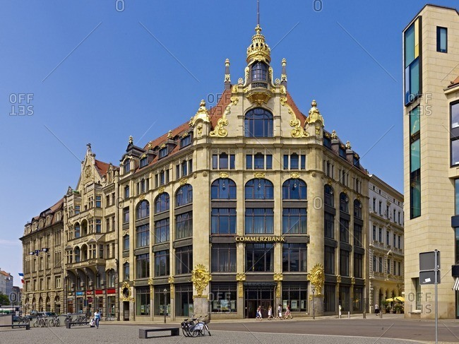 March 8, 2013: Former department store Ebert, also department store Topas in Leipzig, Saxony, Germany