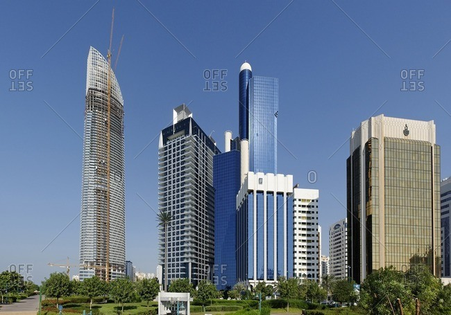 November 29, 2010: High-rise, Office Building, Al Hosn, Emirate of Abu Dhabi, United Arab Emirates, Middle East, Asia