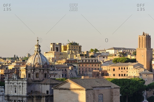 View over the Forum Romanum, Rome, Italy, Southern Europe, Europe
