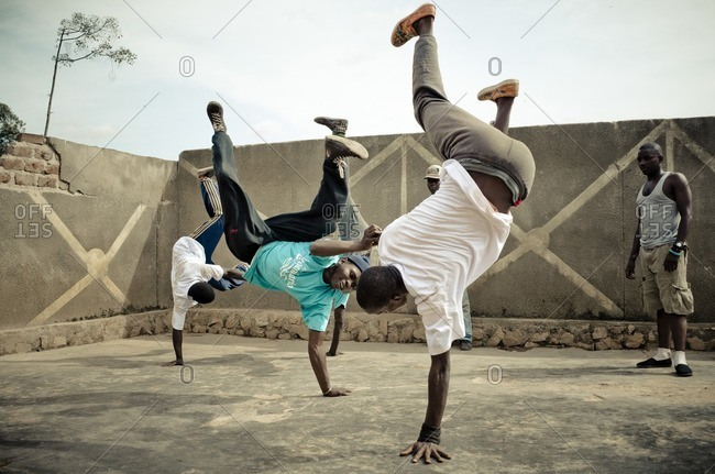 February 18, 2012: Breakdancers, Kampala, Uganda, East Africa, Africa