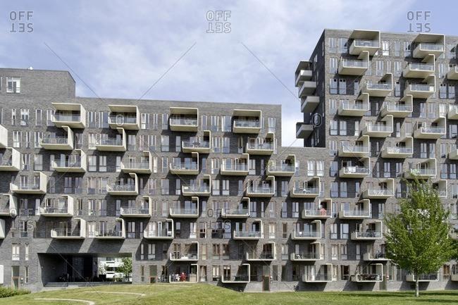 May 20, 2012: modern architecture, housing construction, orestad, Amager Island, Copenhagen, Denmark, Scandinavia