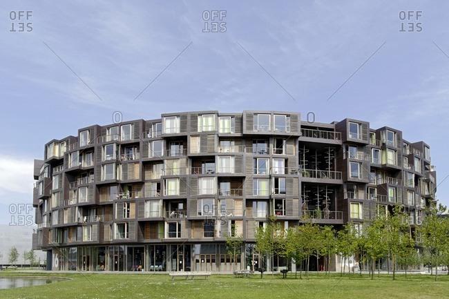 May 20, 2012: Student residence, Univiertel, orestad, Amager, Copenhagen, Denmark, Scandinavia