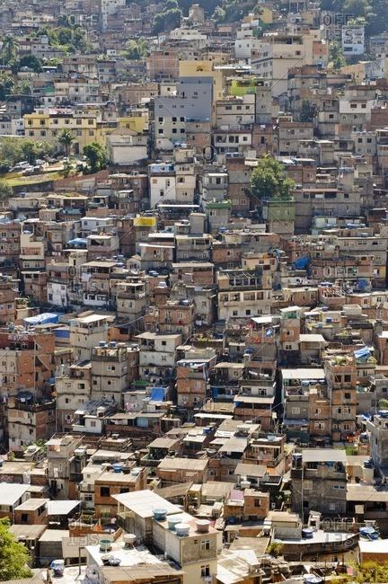August 26, 2010: Old slum of Rocinha, Rio de Janeiro, Brazil, South America
