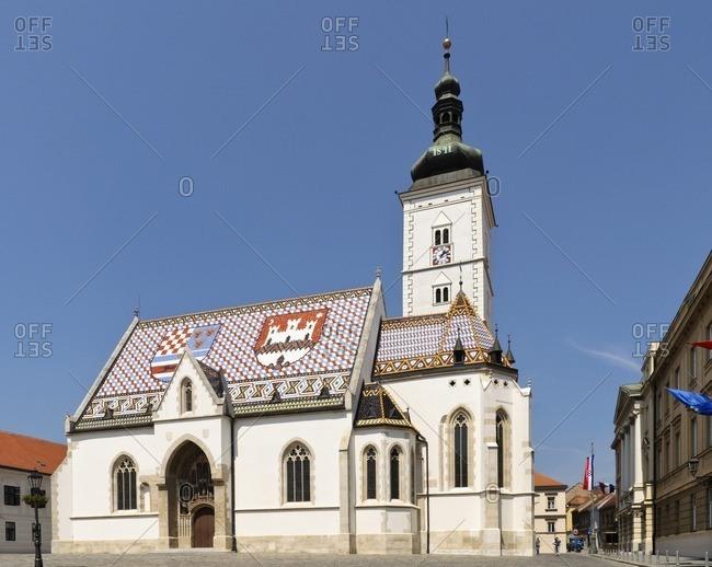May 7, 2011: St. Mark church, Zagreb, Croatia, Balkans, Southeast Europe
