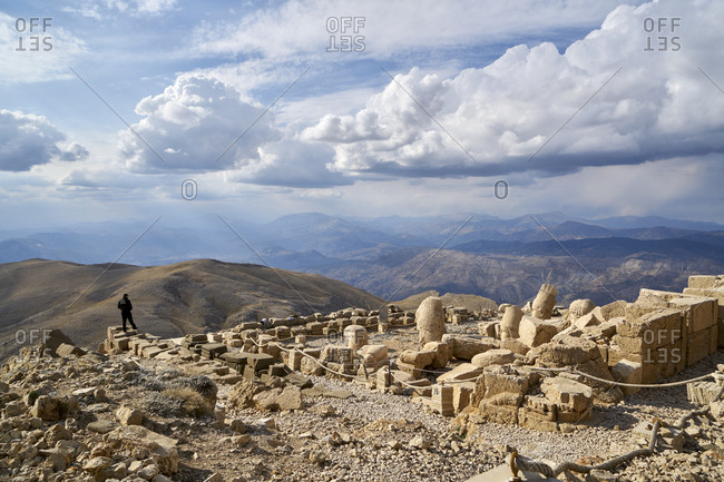 November 3, 2018: Nemrut Da?, Turkey; November 3, 2018; Crowning one of the highest peaks of the Eastern Taurus mountain range in south-east Turkey, Nemrut Da? is the Hierotheseion (temple-tomb and house of the gods) built by the late Hellenistic King Antiochos I of Commagene (69-34 B.C.) as a monument to himself.