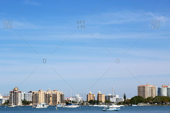 Downtown Sarasota, Florida On A Clear Day