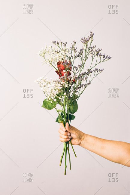 Bouquet of flowers in spring